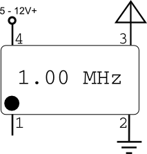pinout of open oscillator