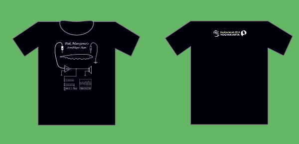 FishHacking t shirt with back 2014.png