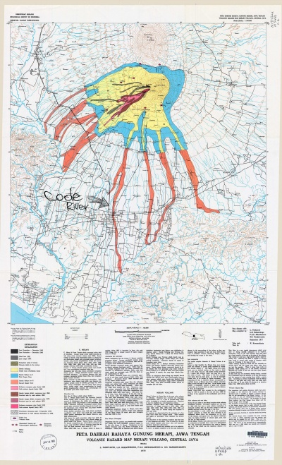 Merapi Hazard Zone Map - 1978